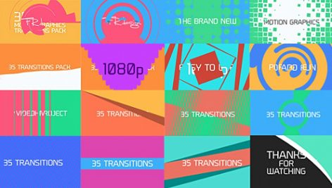 Videohive 35 Cool Motion Graphics Transitions 7601541