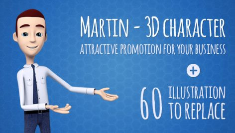 Videohive Martin 3D Character 6886216