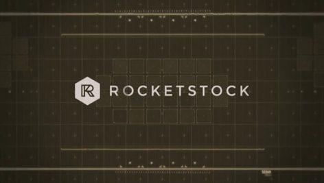 Rocketstock Static Glitchy Logo Reveal