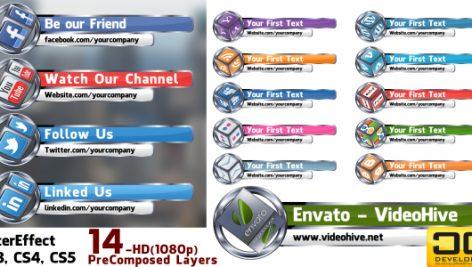 Videohive Socail Media LowerThird Bundle 700898