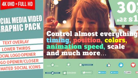 Videohive Social Media Video Graphic Pack 19300014