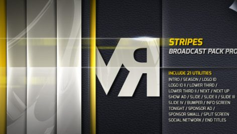Videohive Stripes – Broadcast Pack Pro 4641473