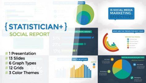 Videohive Statistician Plus – Social Report 9527991
