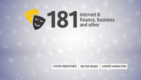 Videohive 181 Animated Icons 23180536