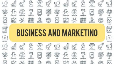 Videohive Business And Marketing – Outline Icons 21291152
