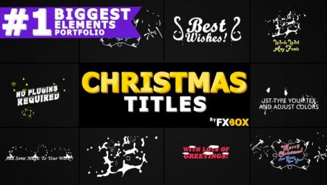 Videohive Christmas Titles And Transitions 22982173