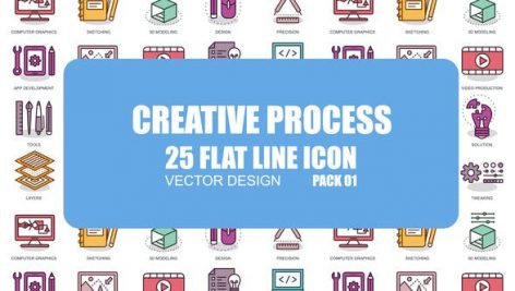 Videohive Creative Process – Flat Animation Icons 23370301