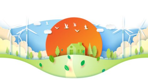 وکتور Freepik Green Eco Friendly House