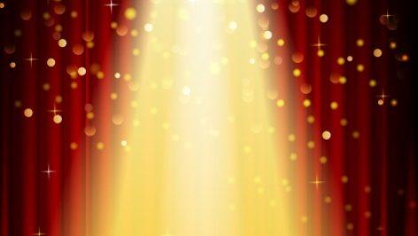 وکتور Freepik Stage Lighting Background With Spot Light Effects