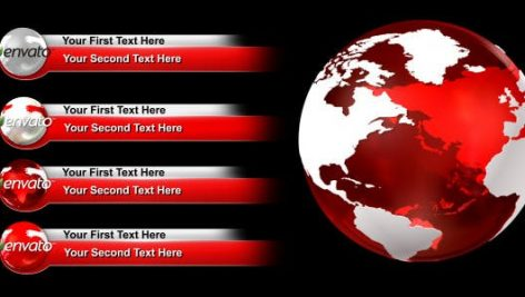 Videohive World Lower Thirds Pack 2820970