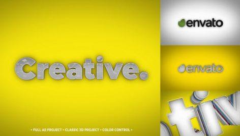 Videohive 3D Typo Logo 22878961