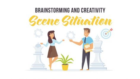 Videohive Brainstorming and creativity – Scene Situation 27597210