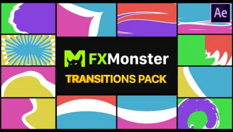 Videohive Colorful Transitions Pack 26721097