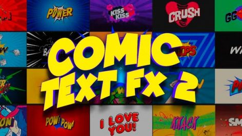 Videohive Comic Text FX 2 23734210