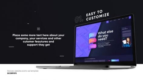 Videohive Dark Website Promo Mockup 26519324