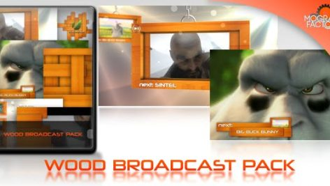 Videohive Wood Broadcast Pack 4632508