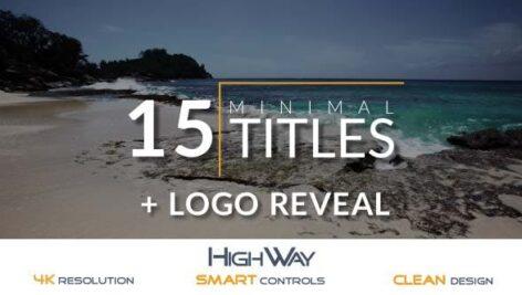 Videohive 15 Minimal Titles Pack – Logo Reveal 16533949