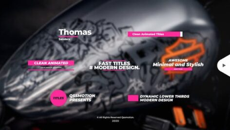 Videohive Clean Lower Thirds I Titles 26345371