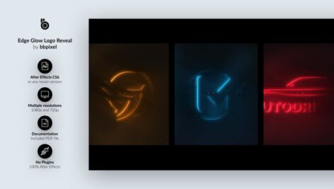 Videohive Edge Glow Logo Reveal 27902721