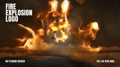 Videohive Fire Explosion Logo 25657907