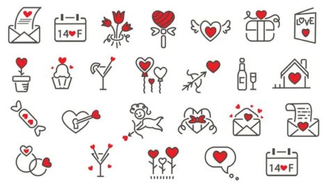 Videohive Love Icons Pack 24 in 1 23220162