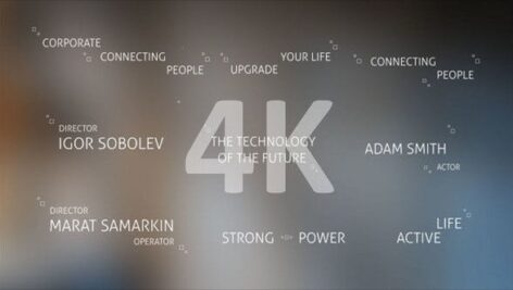 Videohive Technology Titles and Alphabet 4K 21309494