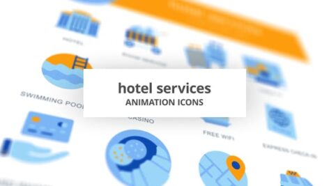 Videohive Hotel Services – Animation Icons 28168274