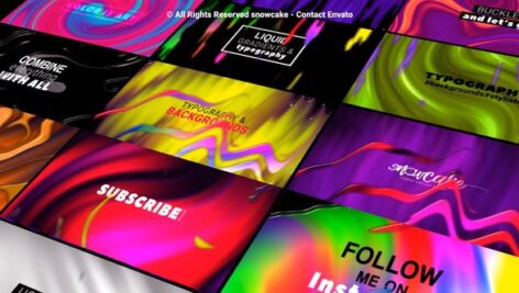 Videohive Liquid Gradient Backgrounds and Typography 27616370