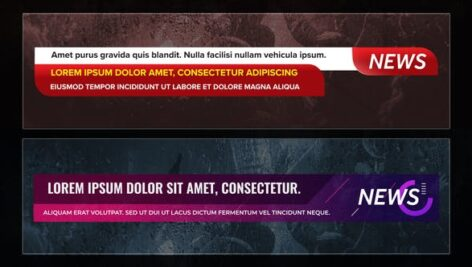 Videohive News Lower Thirds Pack 27609549