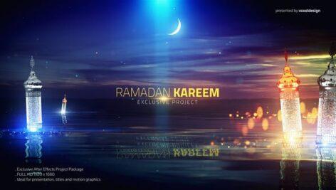 Videohive Ramadan Kareem Lake View Title 26488838