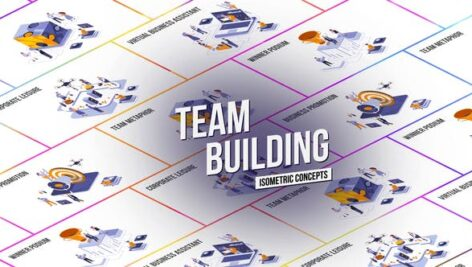Videohive Team Building – Isometric Concept 27458631