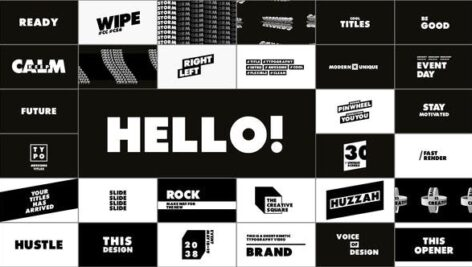 Videohive Typography – Titles 28995500
