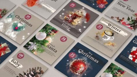 Videohive Winter Illustrated Instagram Post 29781684