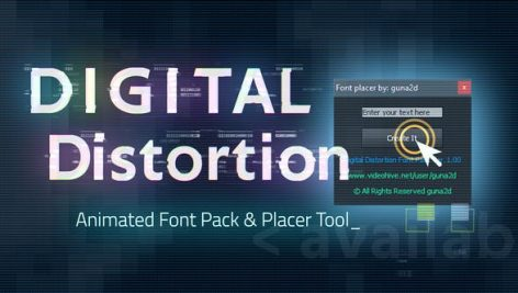 Videohive Digital Distortion Animated Font Pack with Tool 25002354