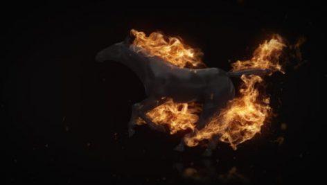 Videohive Flamming Horse Logo Reveal 22216625