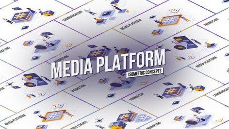 Videohive Media platform – Isometric Concept 28986908