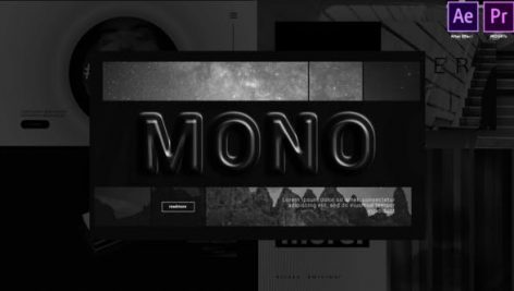 Videohive Monochrome Dynamic Typography 28171459