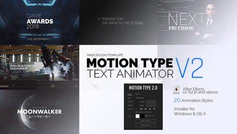 Videohive Motion Type 2 – Text Animator 23144404