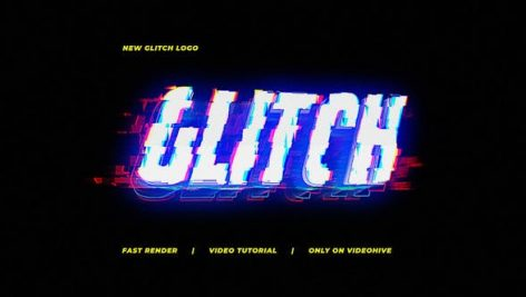 Videohive New Glitch Logo 30246774