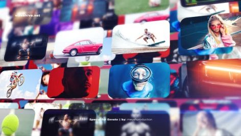 Videohive Photo Wall Intro Logo Reveal 27154125