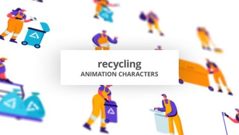 Videohive Recycling – Character Set 28672498