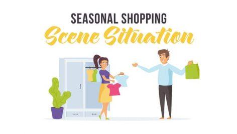 Videohive Seasonal shopping – Scene Situation 28256325