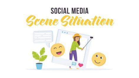 Videohive Social media – Scene Situation 28256346