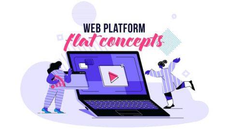 Videohive Web platform – Flat Concept 28730472
