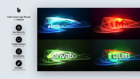 Videohive Color Lines Logo Reveal 28447638