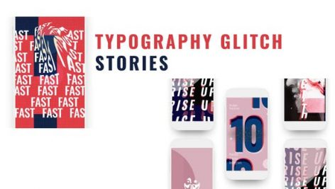 Videohive Glitch Stories Typography Pack 26559346