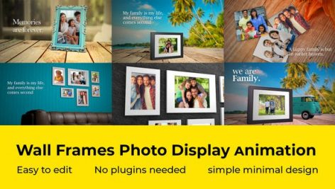 Videohive Wall Frames Photo Display 27722952