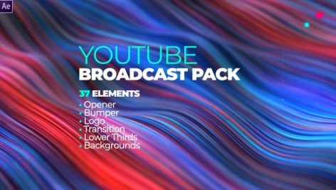 Videohive YouTube Channel Broadcast Pack 37 Elements 28418575