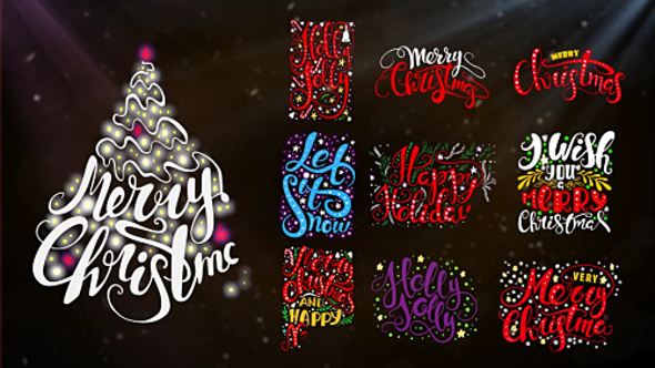 Motion Array – 10 Christmas Lettering